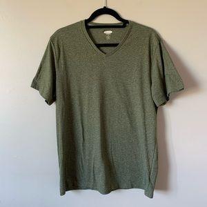 3/$30 Old Navy green heathered short sleeve V neck